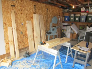 Purchased wood & begin sawing 4/22
